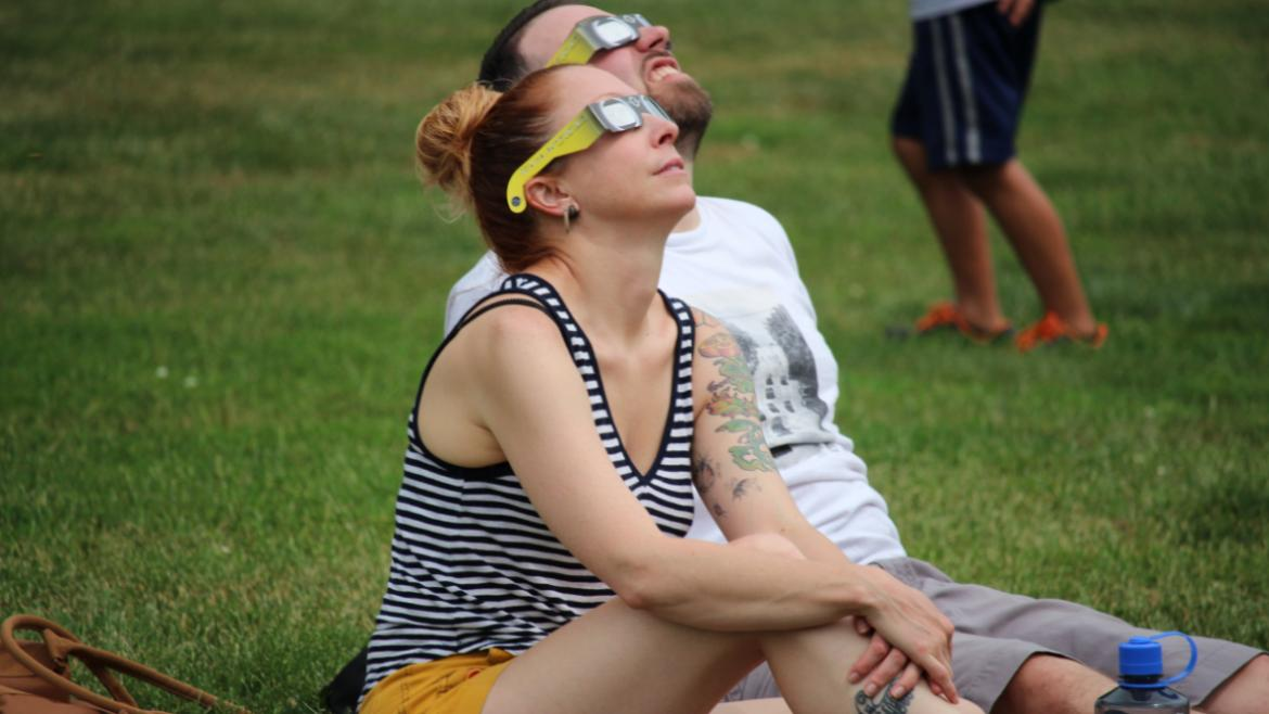 Park visitors of all ages enjoyed watching the eclipse at Humboldt