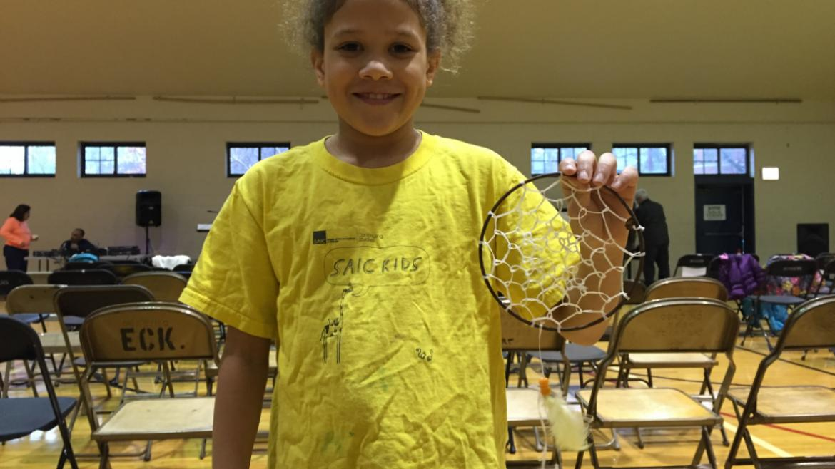 "Kids made ""I Have a Dream"" dream catchers to celebrate the legacy of Dr. King"