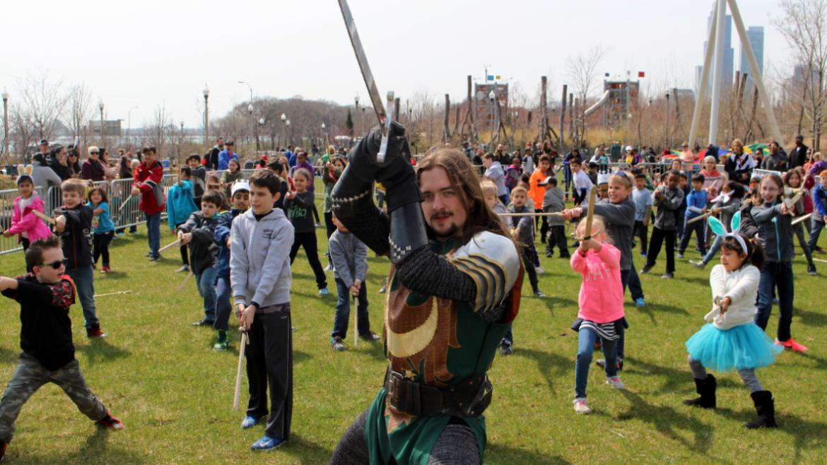 A medieval egg hunt with Medieval Times at Maggie Daley