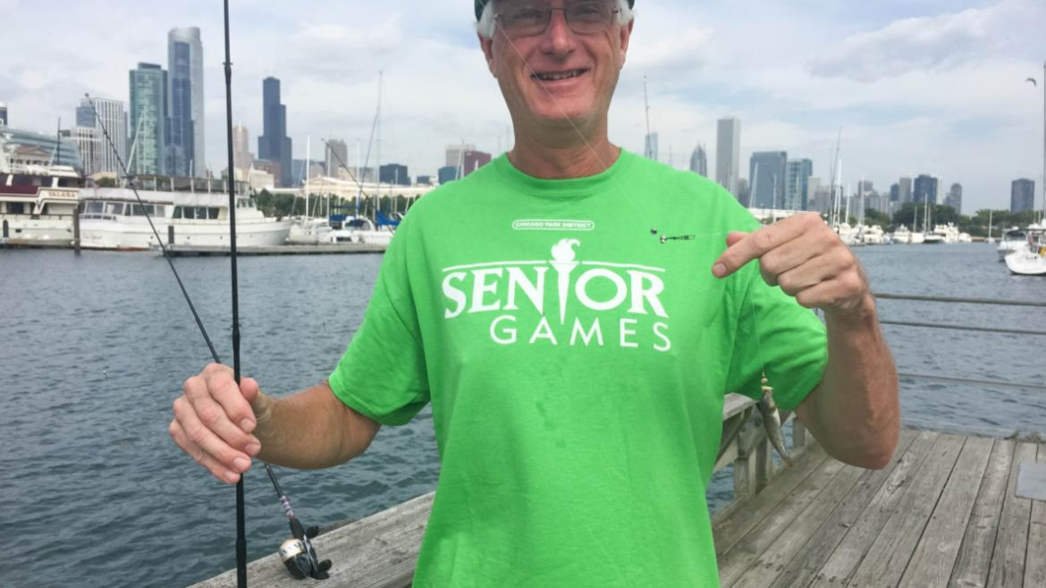 A fresh catch at Northerly Island Park for the Fishing Derby!
