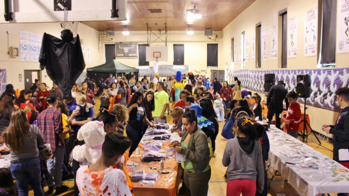 A great turnout for the Commercial Park Halloween Party