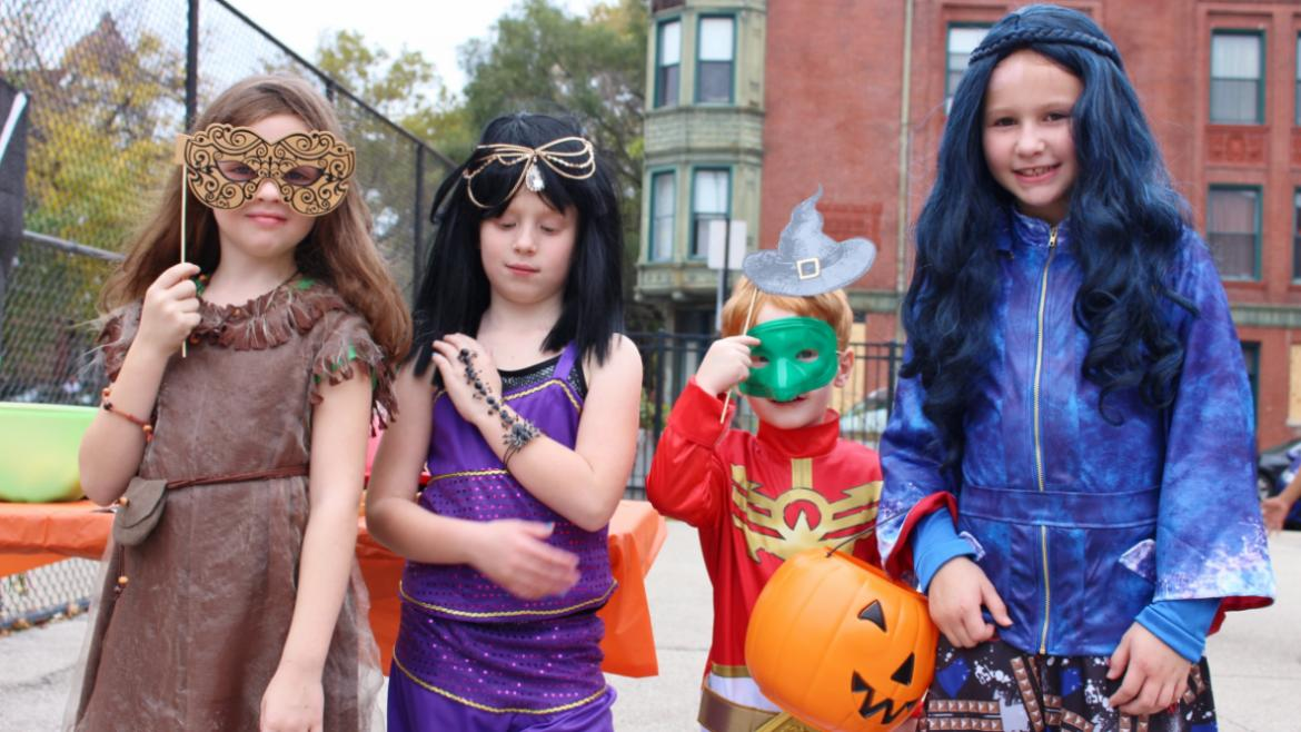 These kids are excited for Halloween at Commercial Park