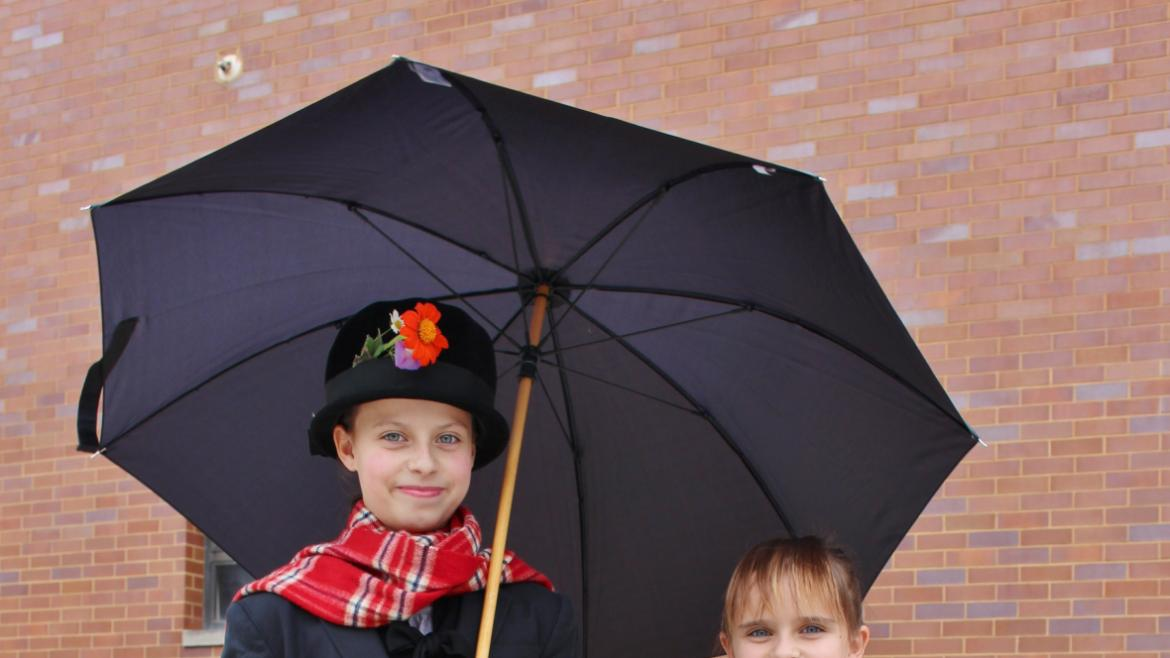 Mary Poppins and Jane Banks