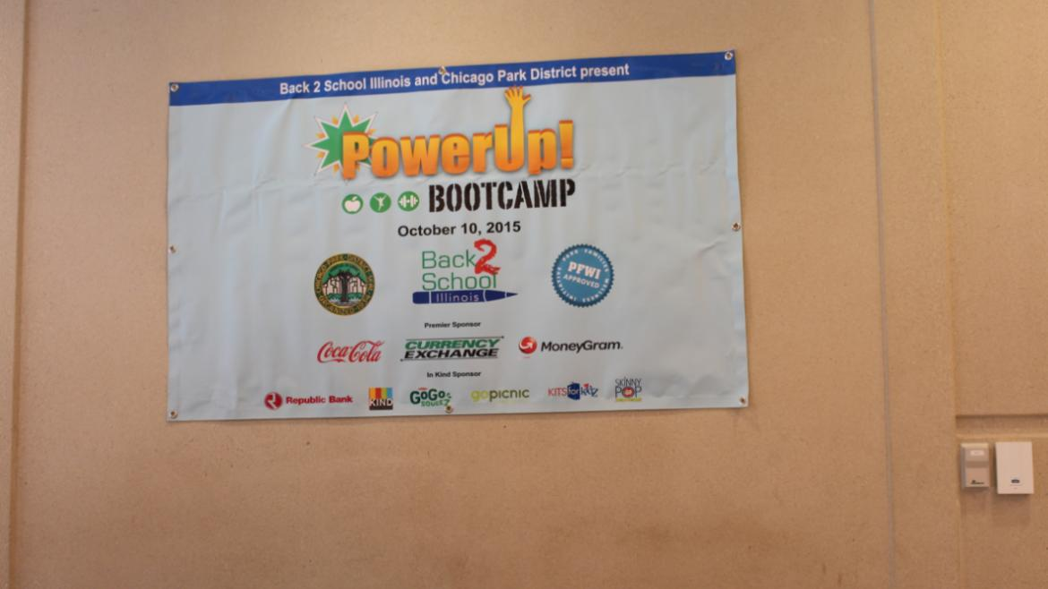 Power-Up Teen Boot Camp was on hand before the ceremony to teach yoga & boxing skills!