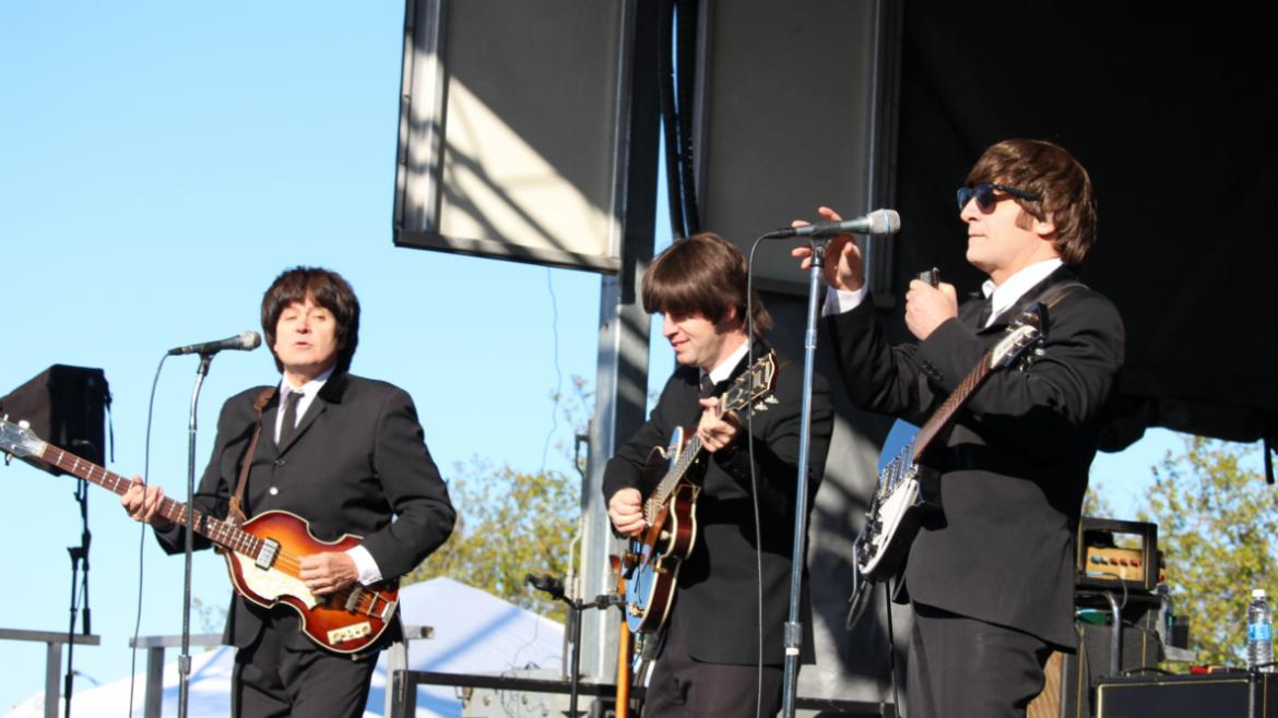 American English played classic Beatles tunes.