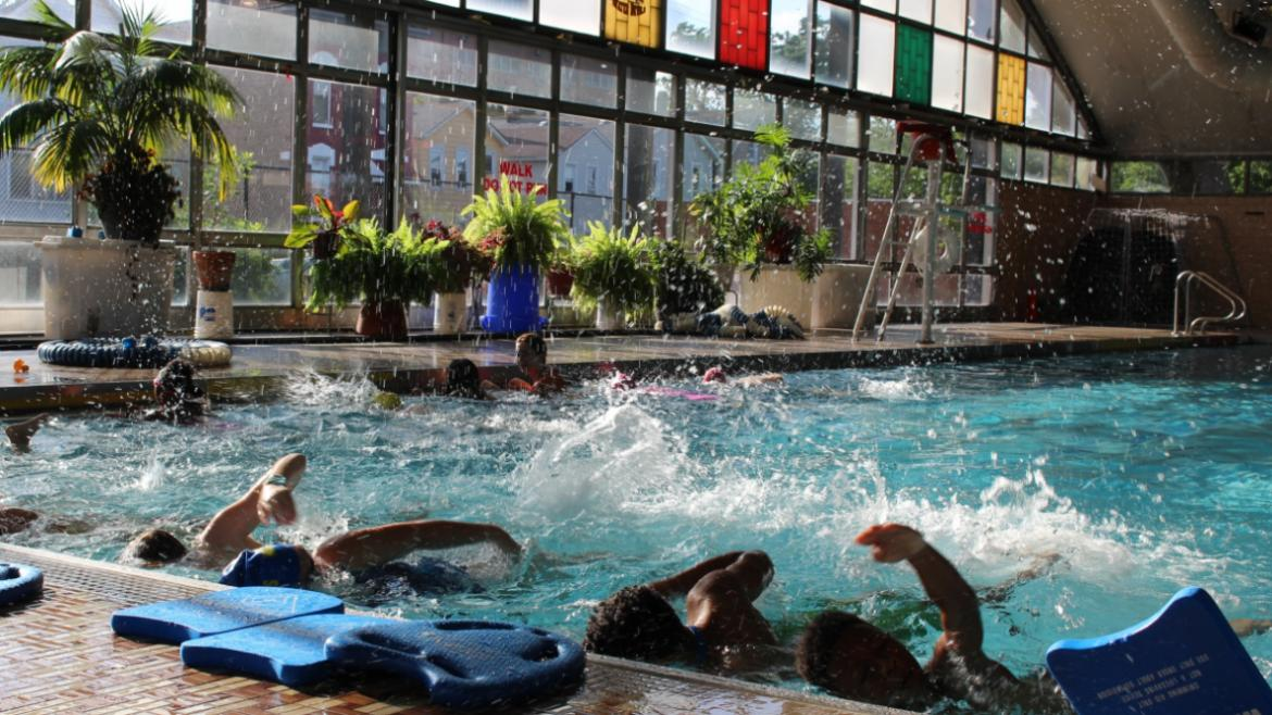 The natatorium at Eckhart Park is the perfect place to learn to swim!