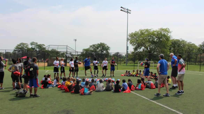 Basketball drills with DePaul University!