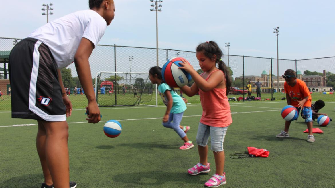 Practicing some dribbling!