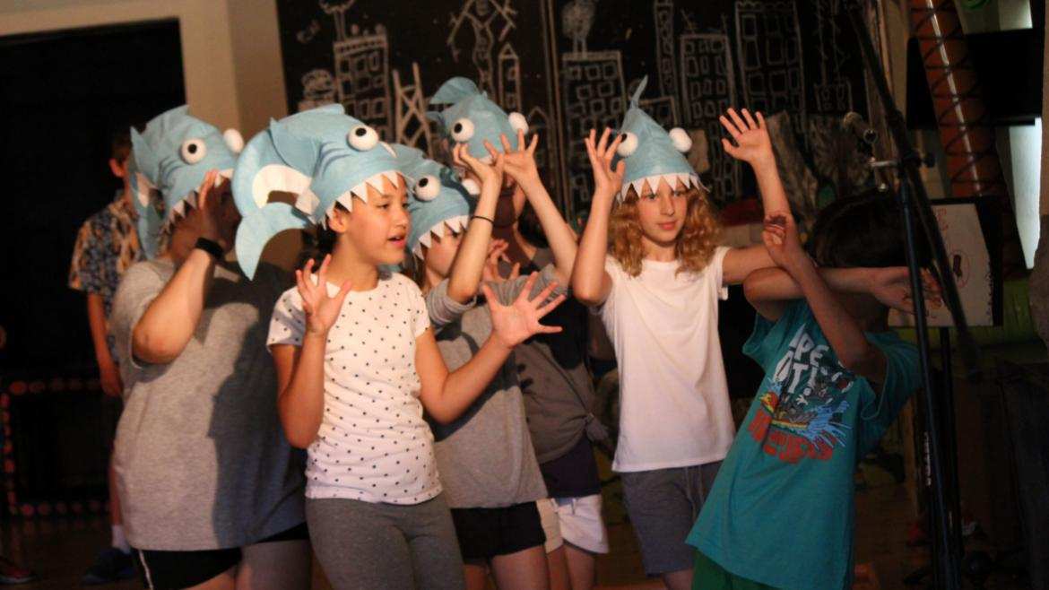 Hmm..a crazy production of Sharknato the musical at Indian Boundary Park!