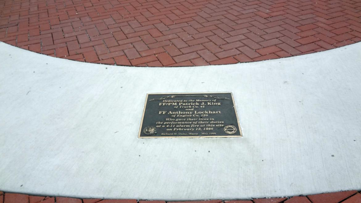 This bronze plaque was dedicated by Mayor Richard M. Daley in 1998, a couple of months.