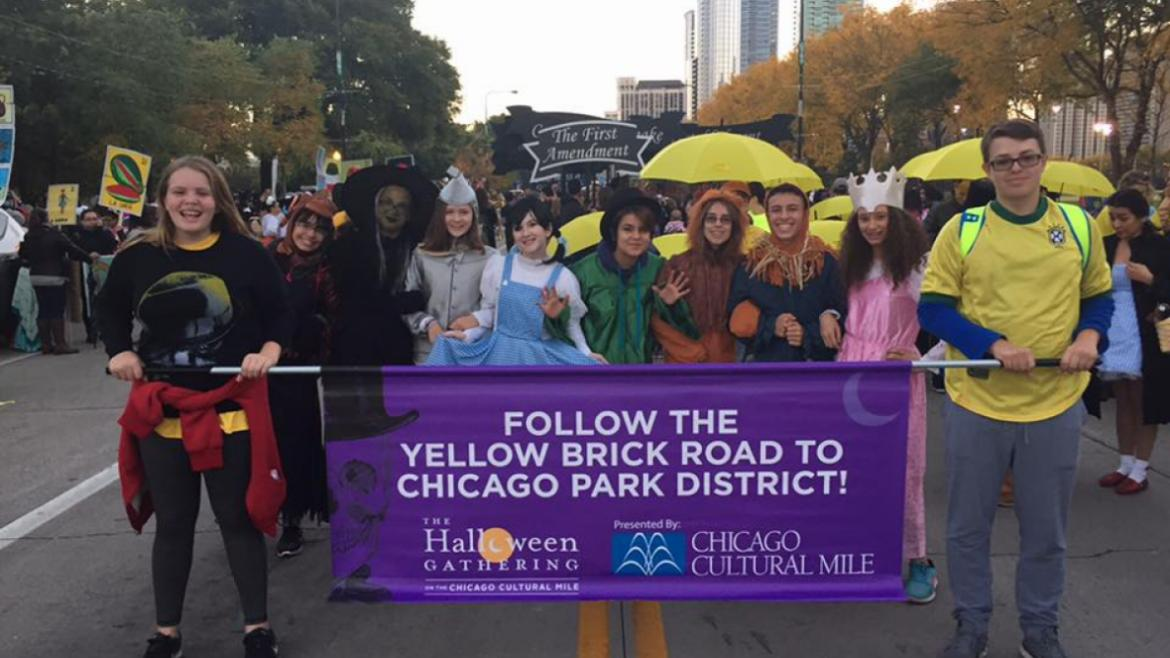 the Halloween parade downtown!