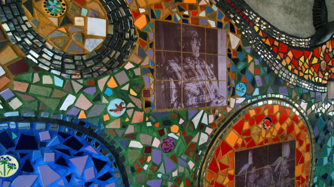 Many Chicagoans of Native American heritage participated in creating the mosaic.