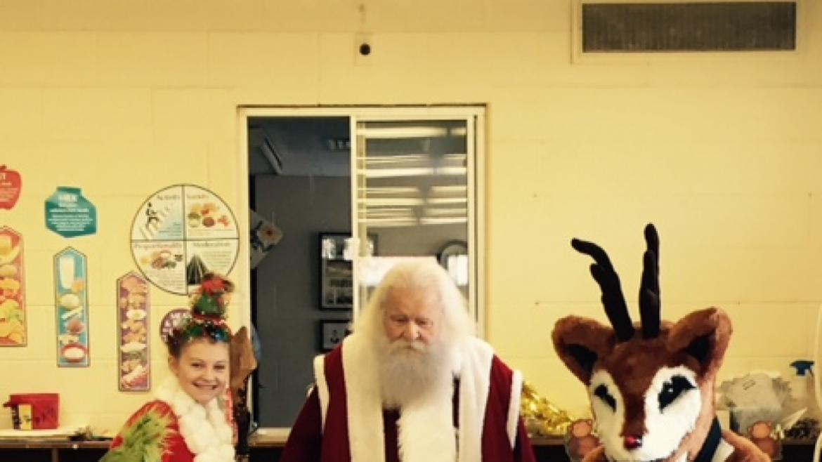 Santa and his helpers visited Merrimac Park for the Holidays!