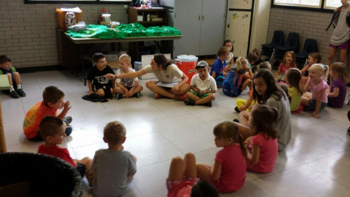 Campers making new friends on their first day of day camp at Normandy Park