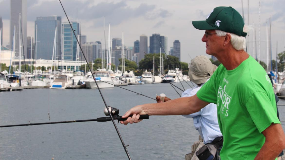SEPT- Seniors gathered at Northerly Island for the Senior Games Fishing Tournament