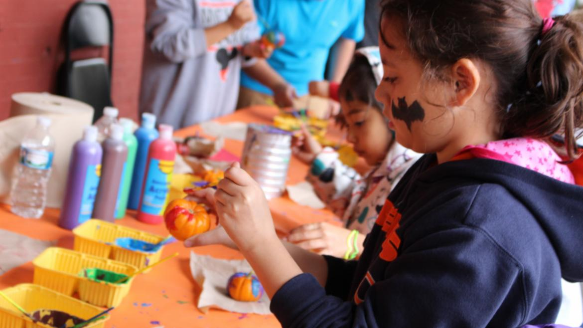 Painting the Pumpkins at Dvorak Park