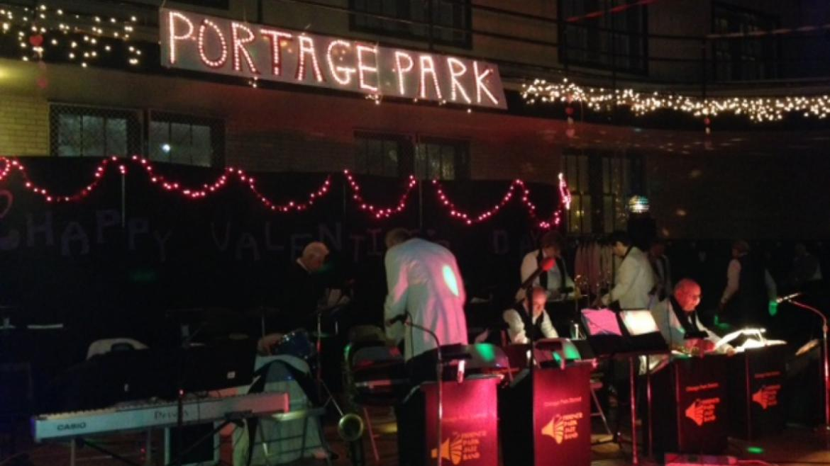 Horner Park Jazz Band warms up before the big Valentine's Day Dance.