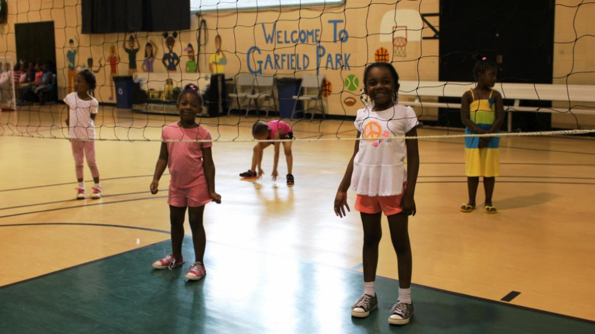 Ready to Play Volleyball in Day Camp at Garfield Park