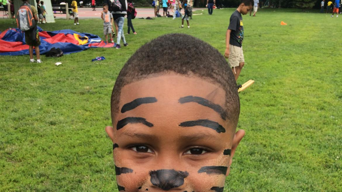 Scary Tiger at Skinner Park