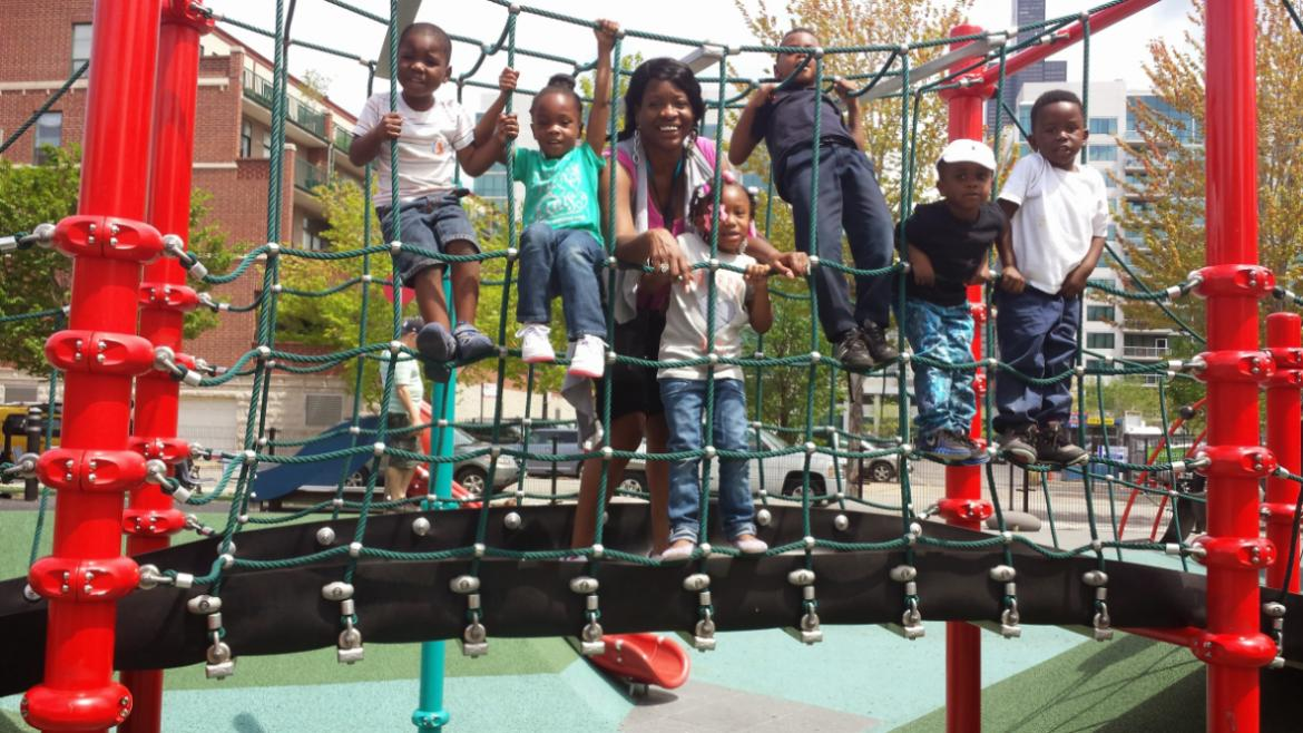 Family is Having Fun in the Playground!