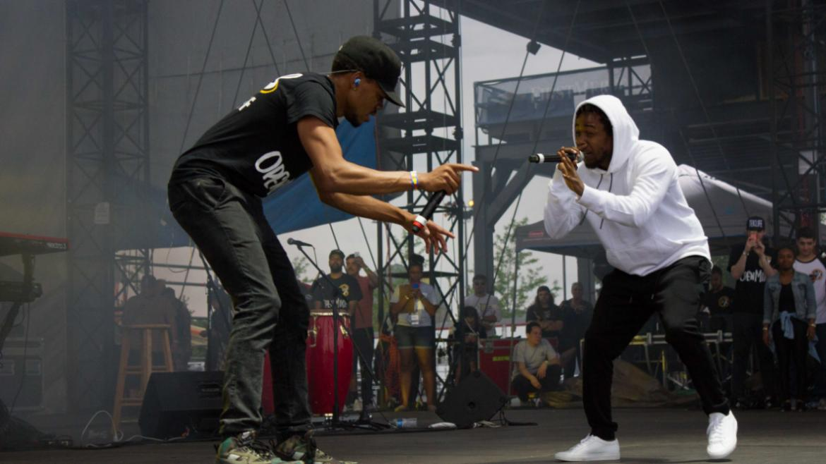 Chance the Rapper and Kendrick Lamar at T.I.P. Fest 2015