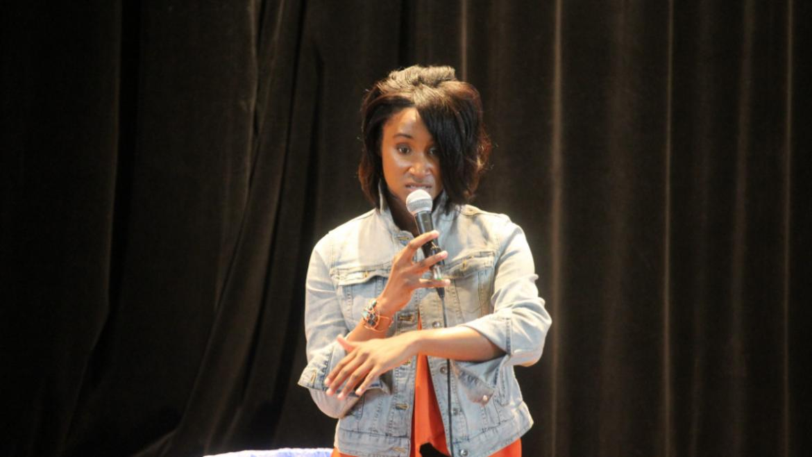 Keynote speaker Antoinette Houston 'Young Flame' inspired us all with her life story & spoken word