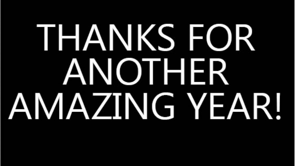 Thanks for another amazing year!