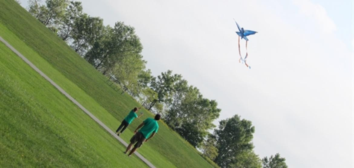 Come fly a kite at Northerly Island.  Don't have your own? Rent one from the Visitor Center