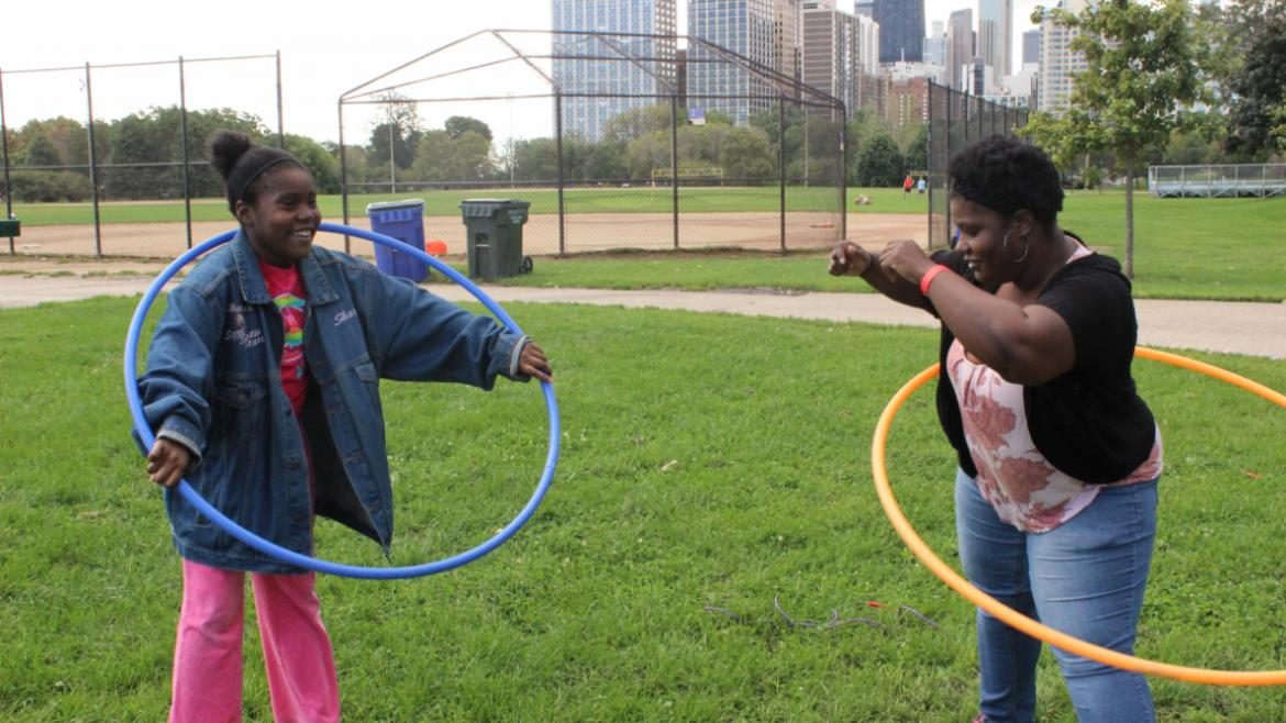 Veterans Field Day 2015- hula hoops
