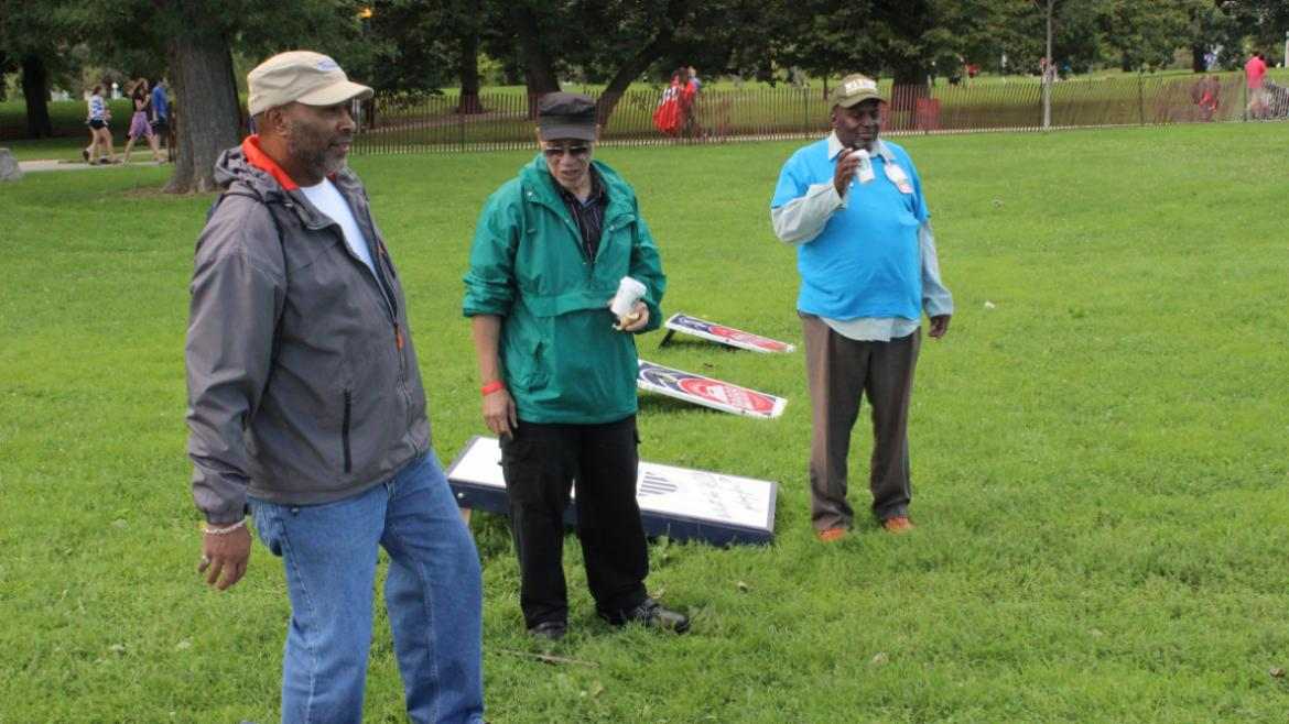 Veterans Field Day 2015- playing bags