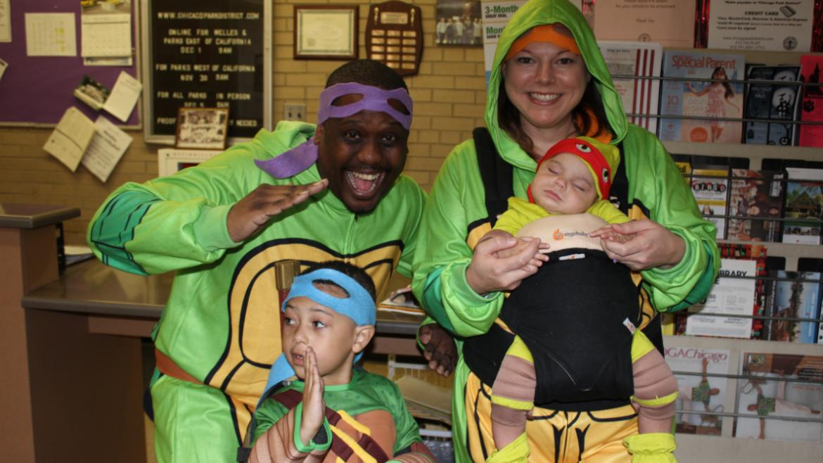Ninja turtles family photo!