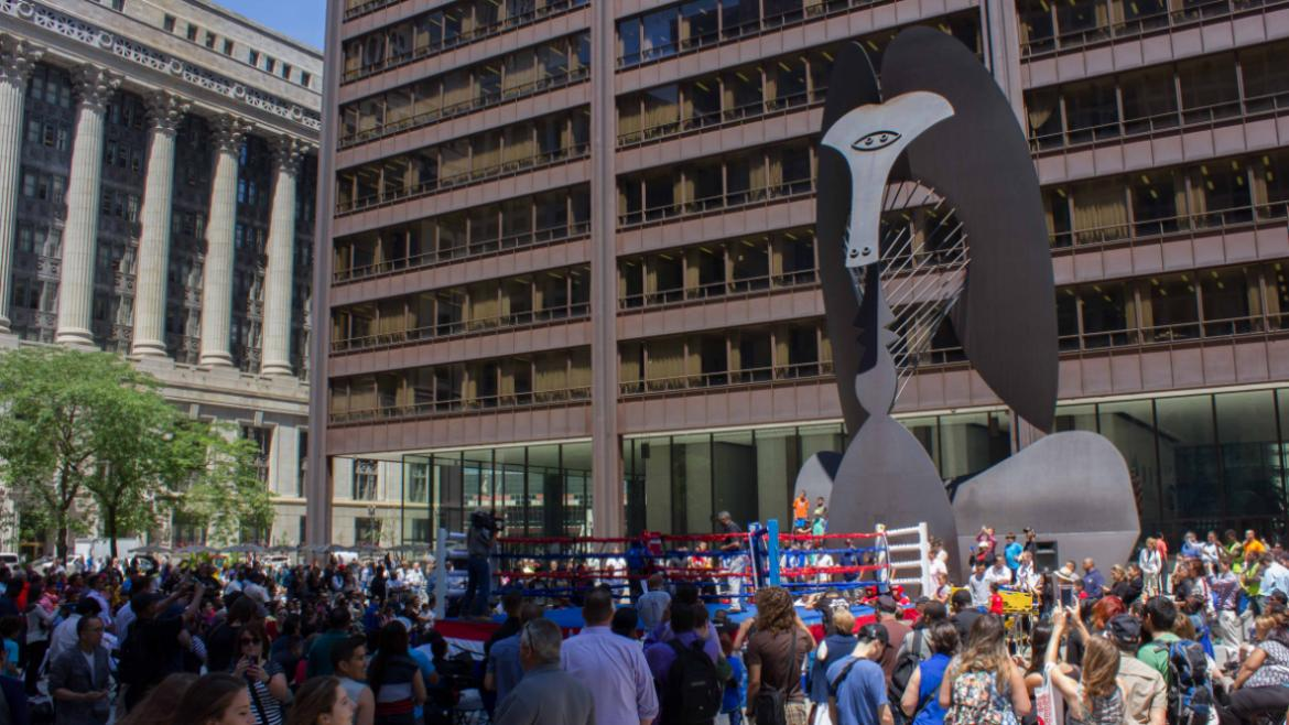 Daley Plaza boxing showcase