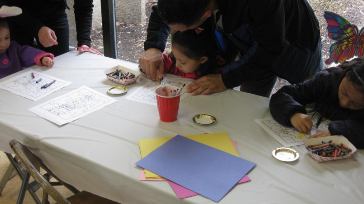 Getting crafty at Brands Park egg hunt!
