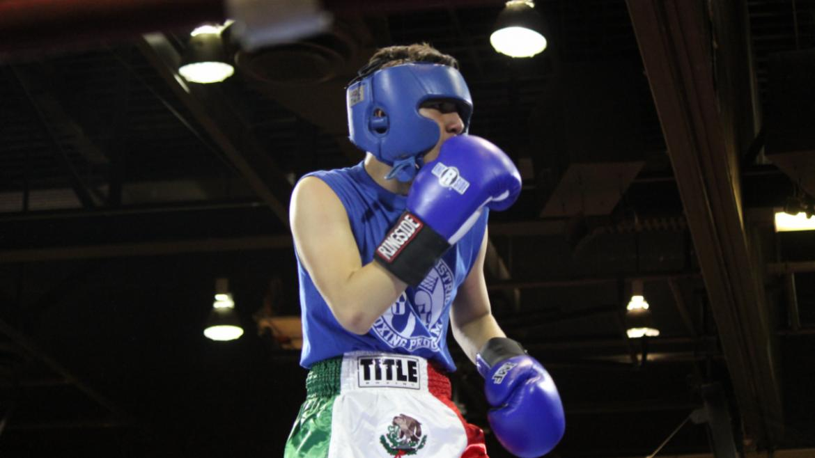 Our teen boxer in center ring at Citywide competition.