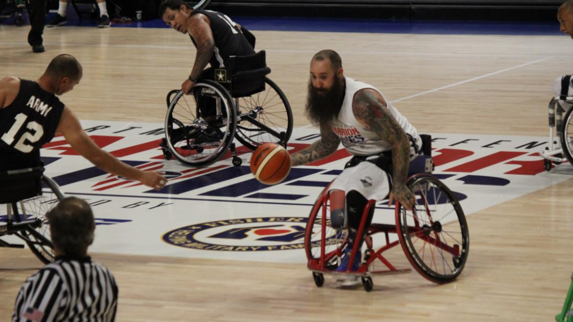 Competition is fierce for wheelchair basketball!