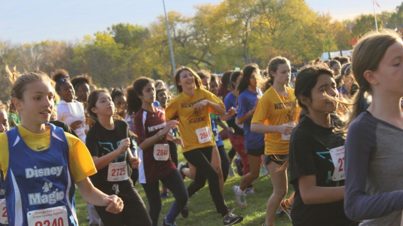 Girls are having fun with their run!