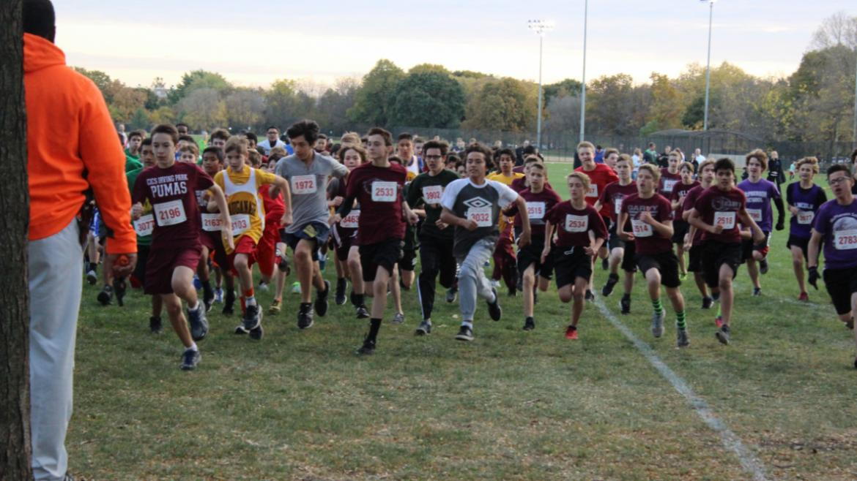 The boys race has begun!
