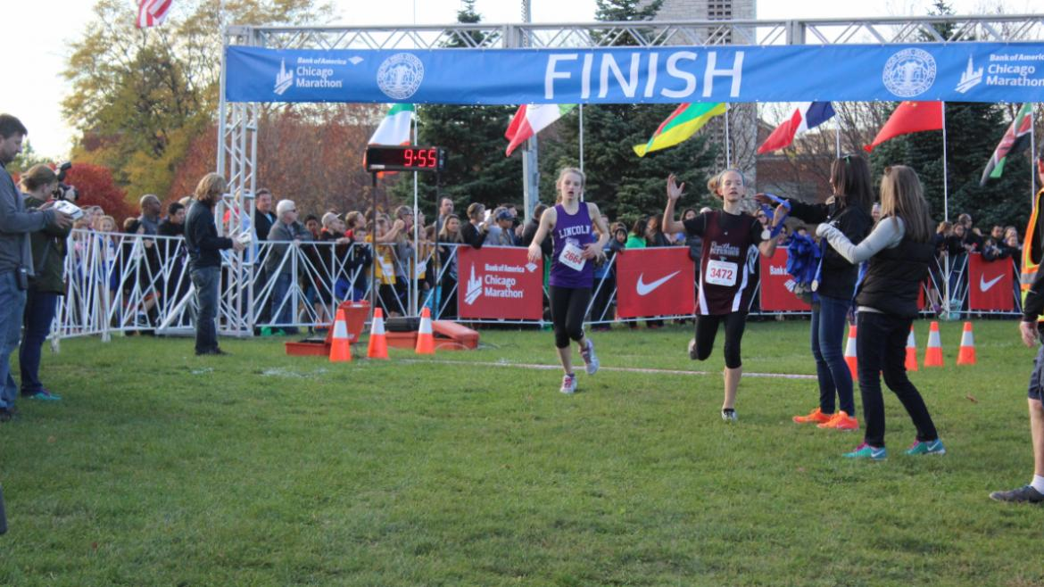 The girls finished strong.