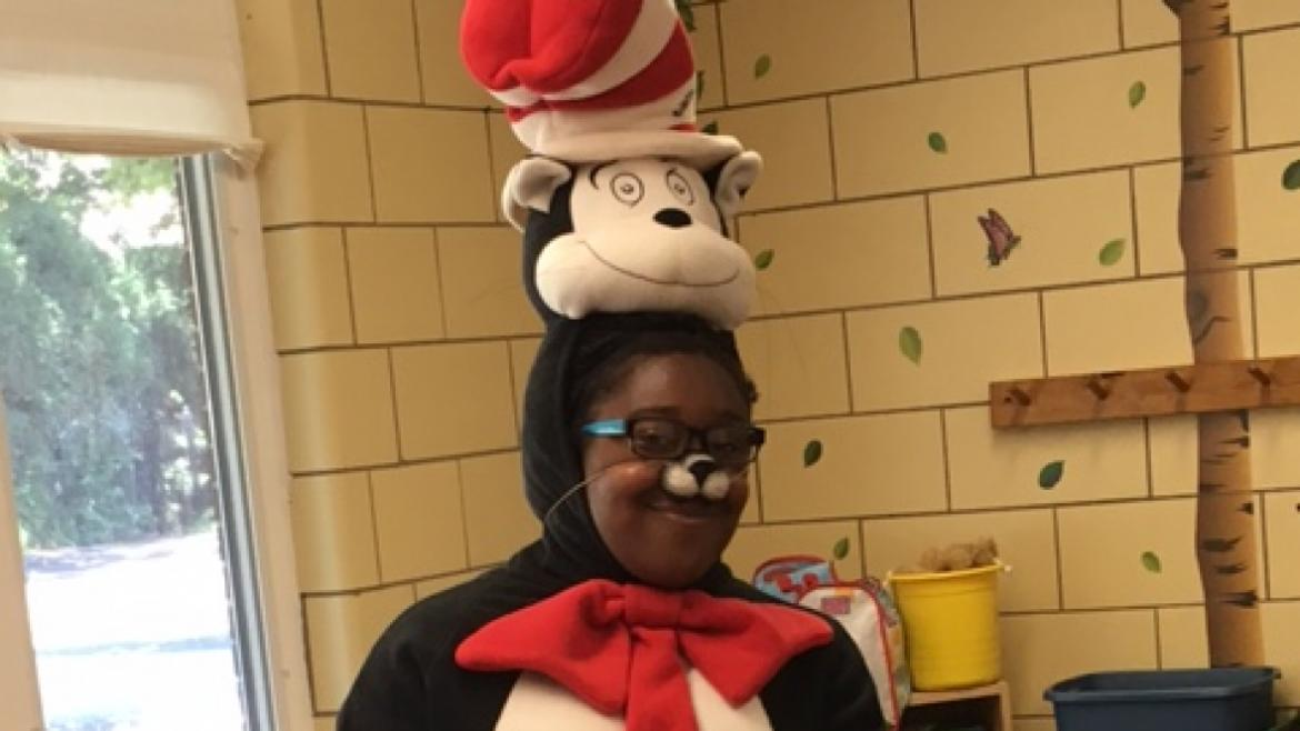 Cat in the Hat stopped by Paschen Park to reading a great book to the campers.