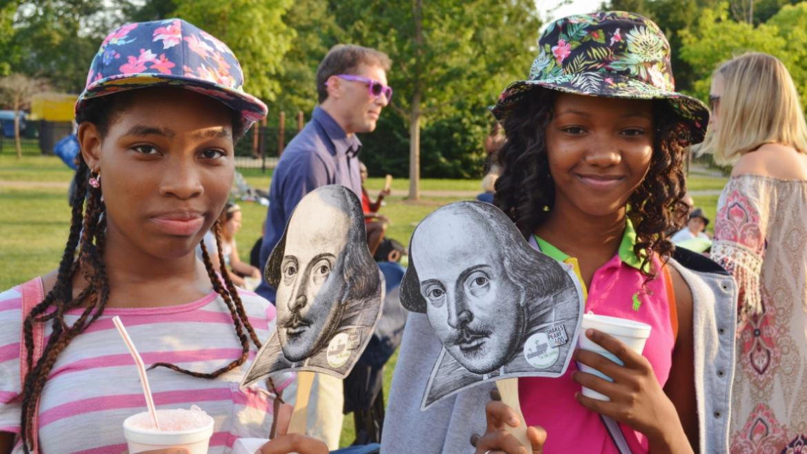 Park patrons enjoy Shakespeare in the Park at Columbus Park
