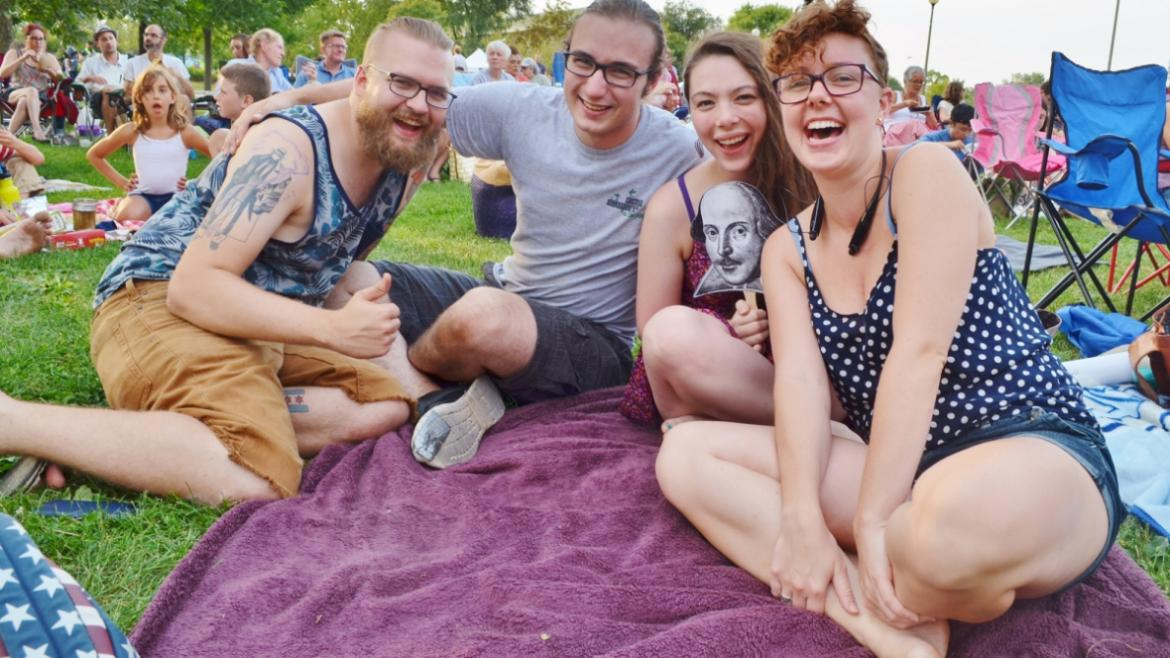 Park patrons at Humboldt Park enjoy Shakespeare in the Park