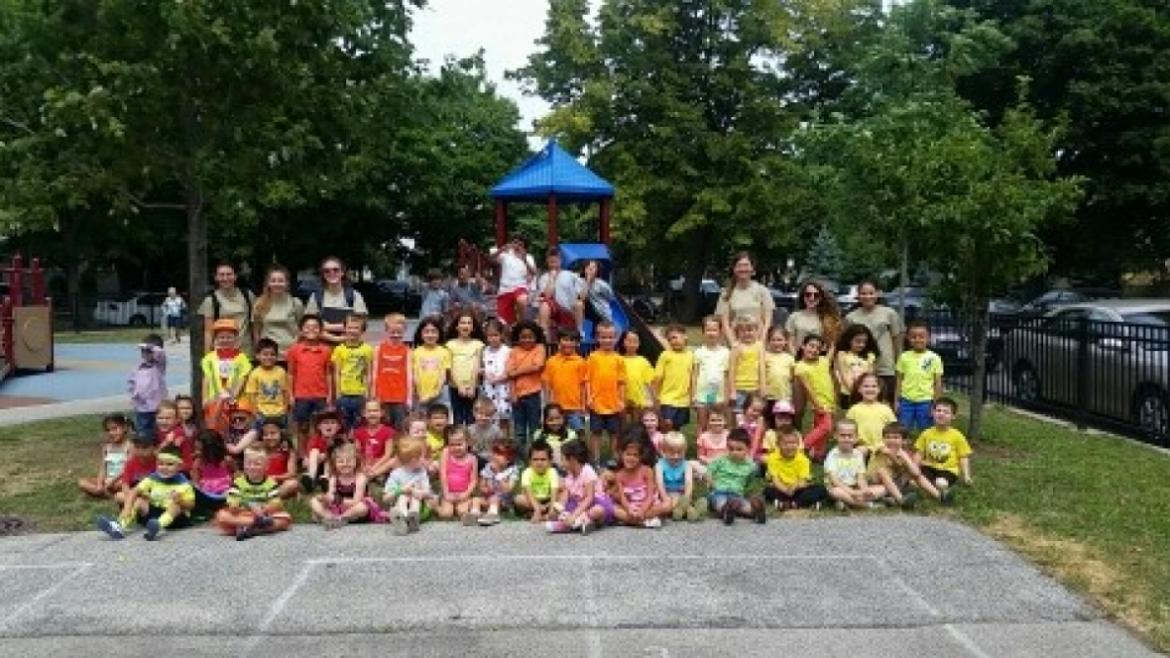 Group photo of Gladstone Park campers.