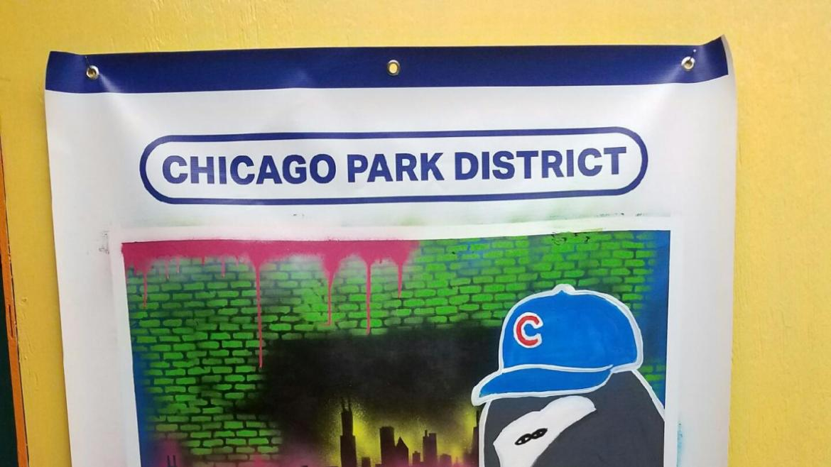 Created by Eugene Field art instructor Patricia Perez.#gocubsgo