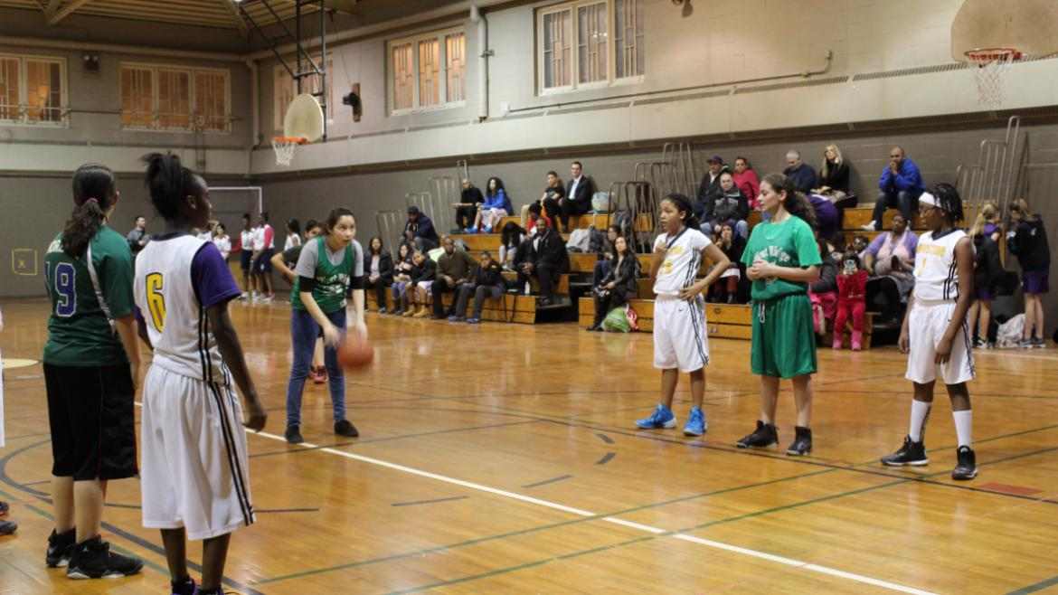 West Ridge at the free throw line.