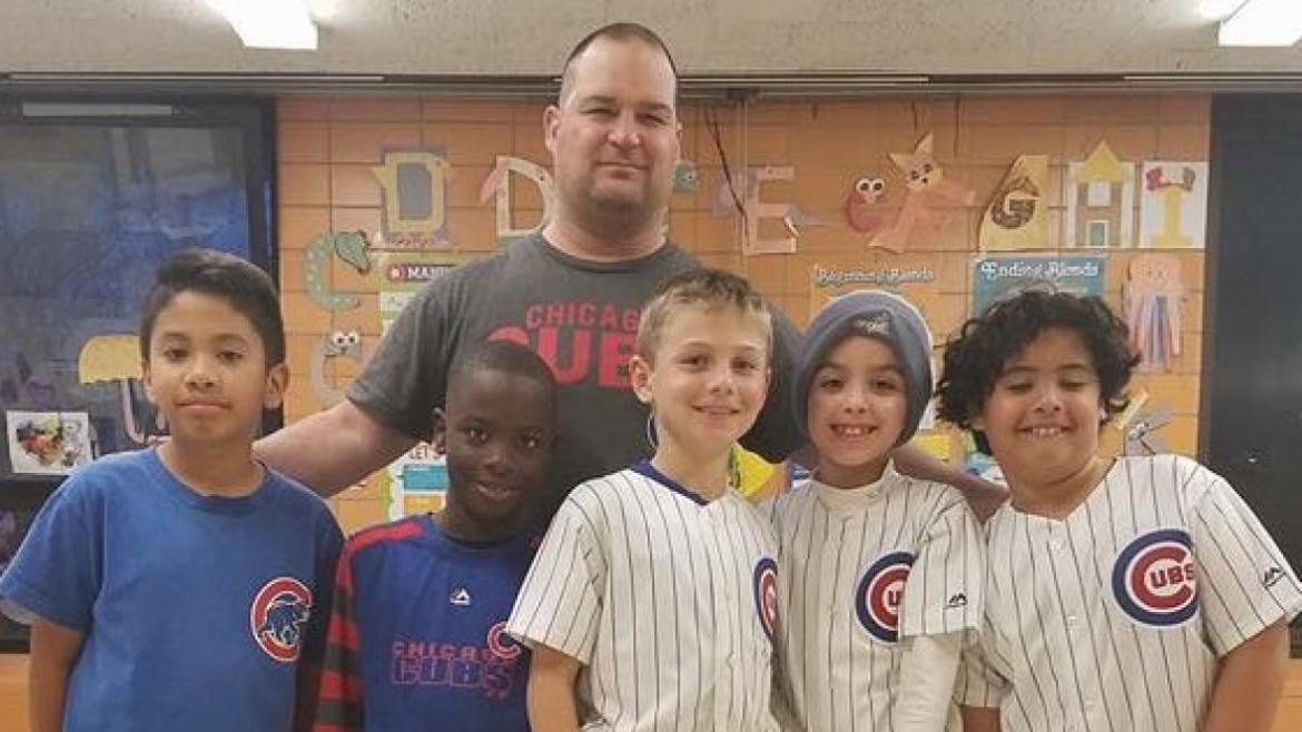 Our park kids at Gill Park take baseball serious. Thanks Chicago Cubs.