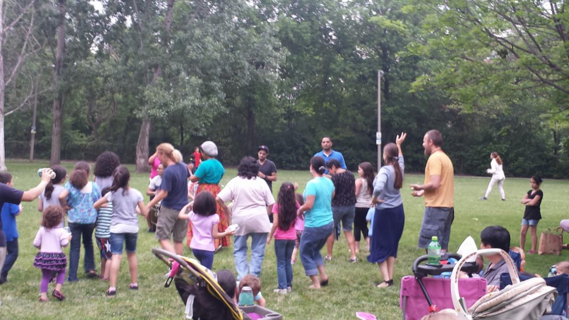 Latin Dance at Gompers Park.