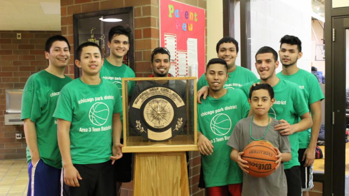 Green Briar Park Teen Basketball Team with the Gold Medal!