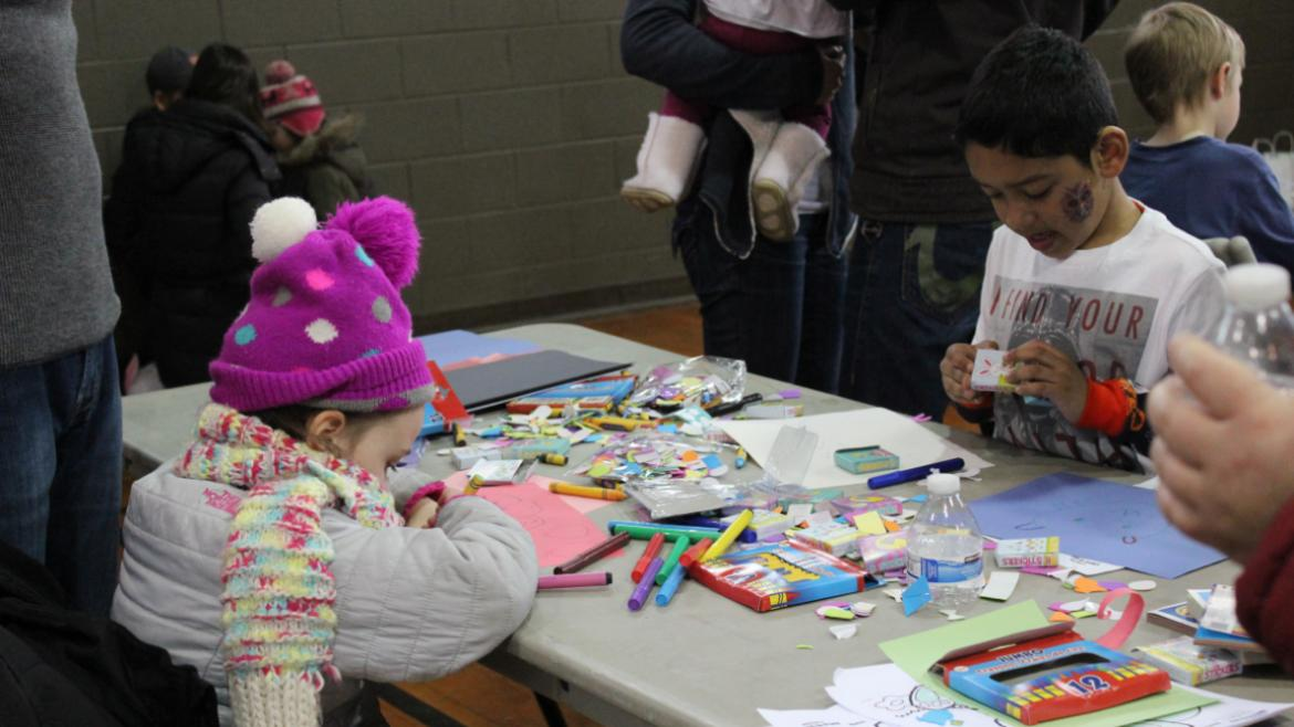 Some arts | crafts at Hamlin Park Bunny event.