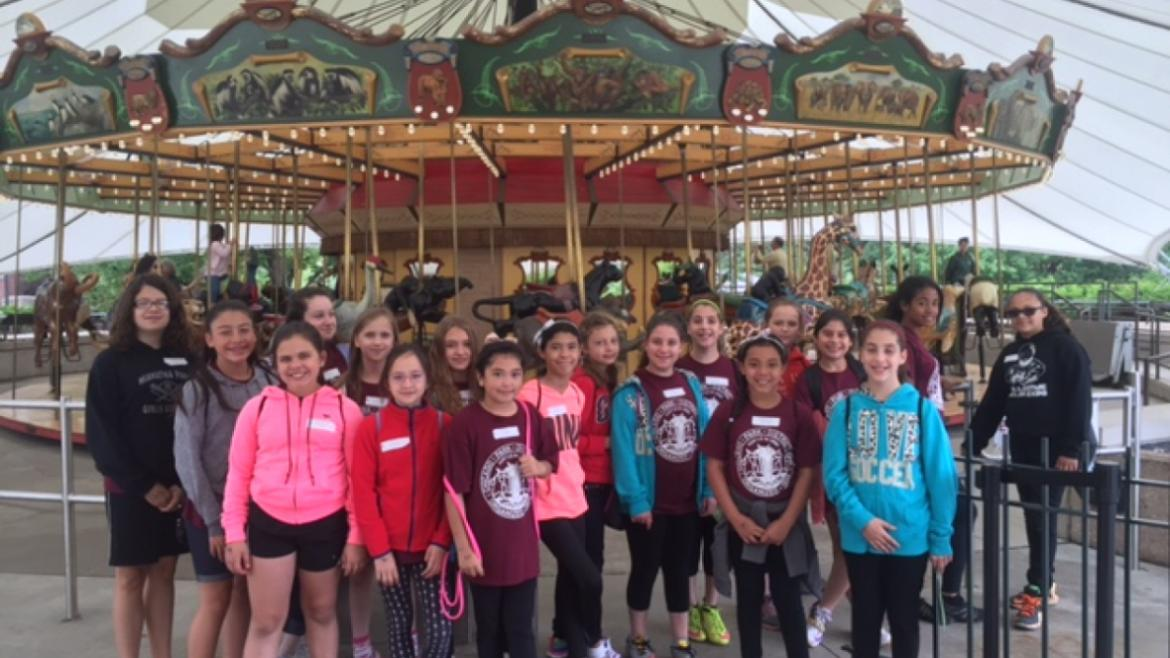 Campers at Hiawatha at the Merry Go Round!