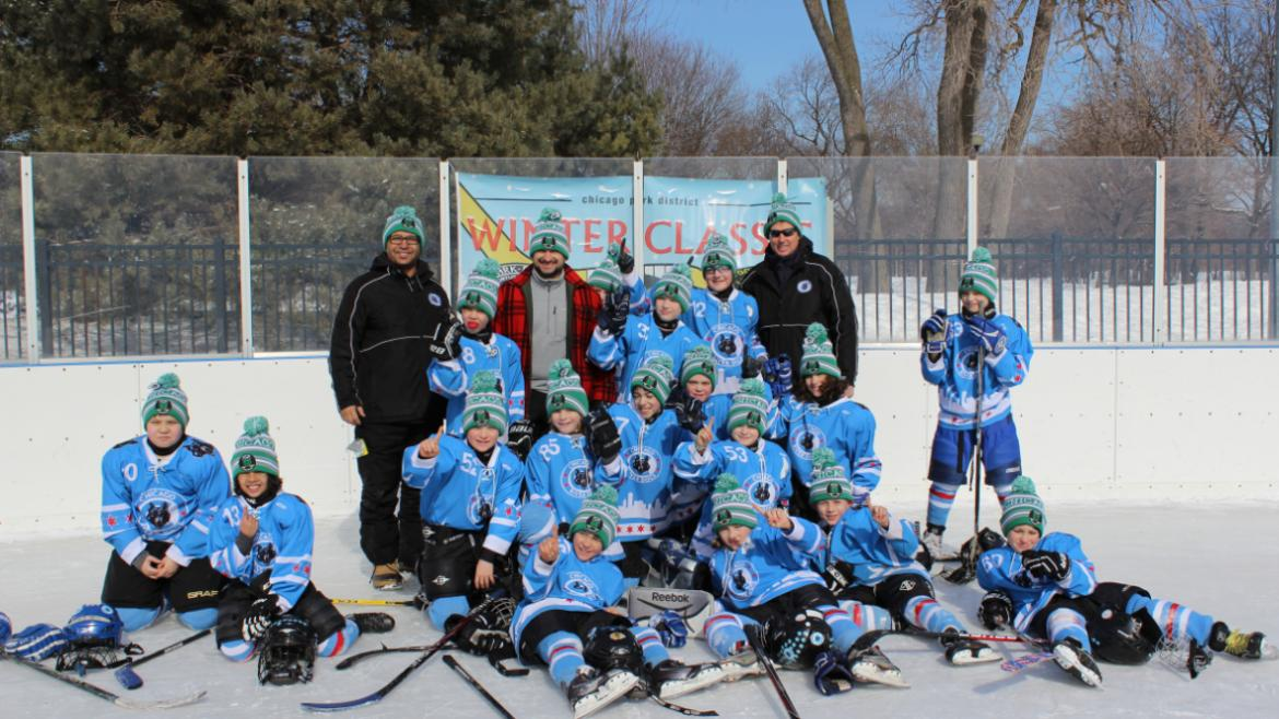 Team photo of the McFetridge River Dogs